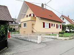 Fassadengestaltung einfamilienhaus rotes dach  Fassaden-Farbe VORHER-NACHHER am Computer ansehen... ab 20 Euro